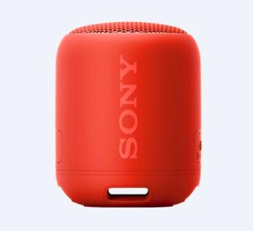 Sony SRS-XB12, speaker compatto, portatile, resistente all'acqua con EXTRA BASS, rosso