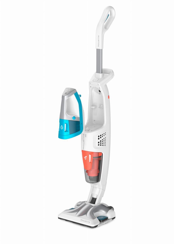 Rowenta RY8534 Clean & Steam Multi Scopa Lavapavimenti, Aspira e Igienizza Contemporaneamente tutte le superfici, Elimina Germi e Batteri, Serbatoio Portatile Amovibile, Senza Sacco, Bianca