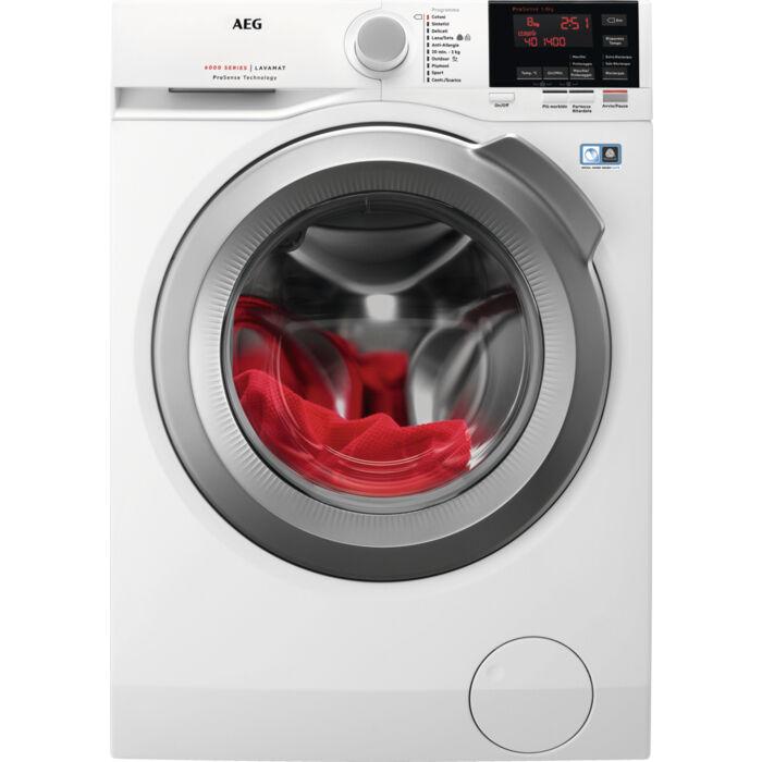 AEG L6FEG864 lavatrice Libera installazione Caricamento frontale Bianco 8 kg 1600 Giri/min A+++