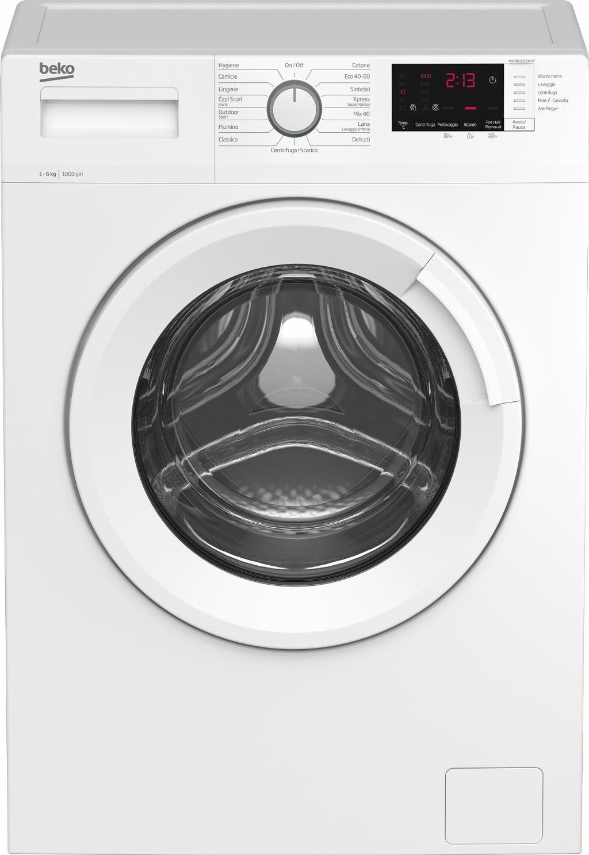 Beko WUX61032W-IT lavatrice Libera installazione Caricamento frontale 6 kg 1000 Giri/min E Bianco