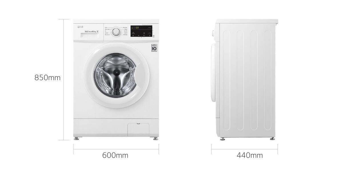 LG FH2J3WDN0 lavatrice Libera installazione Caricamento frontale Bianc
