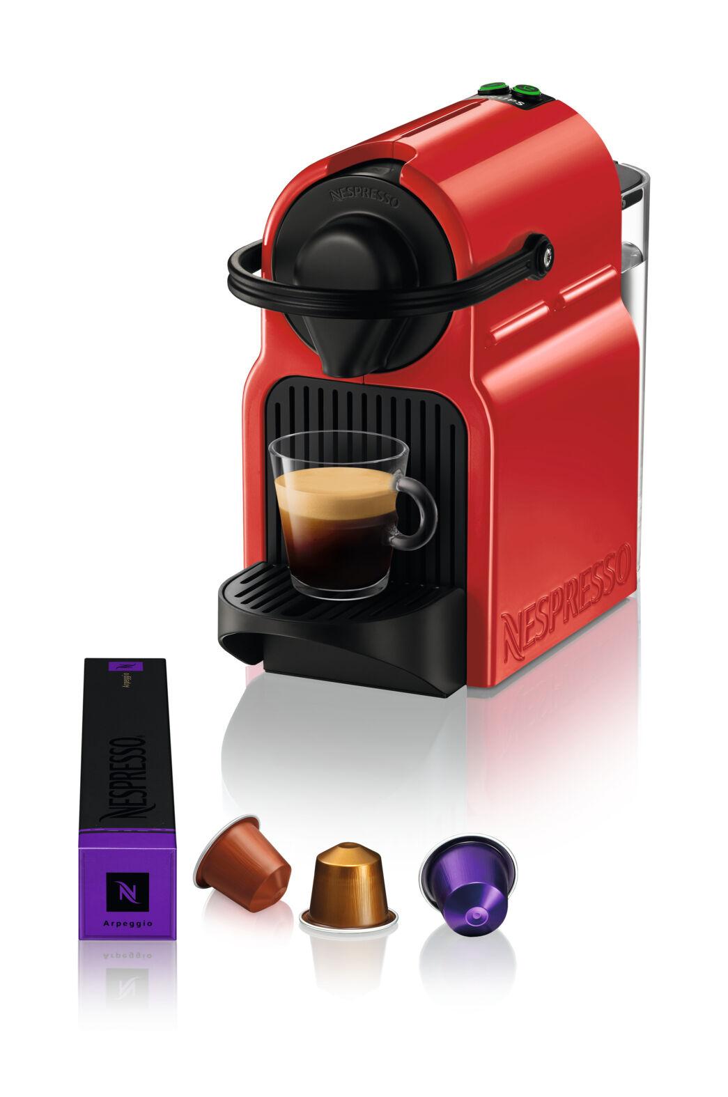 Krups Inissia Macchina per caffé espresso, a capsule, 1260 W, 0.7 L, Rosso