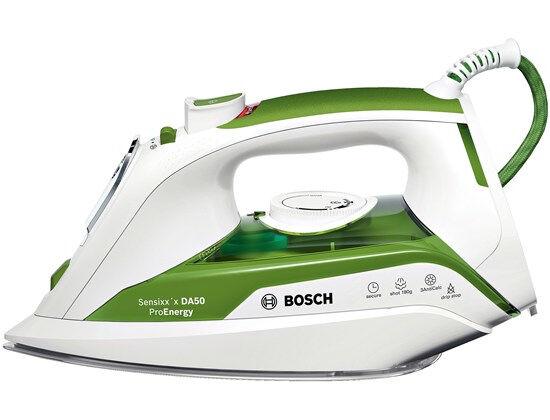 Bosch TDA502412E ferro da stiro Ferro a vapore Piastra Ceranium Glissée Verde, Bianco 2400 W