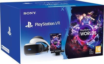 Sony PSVR Mk5 + VR Worlds VCH Occhiali immersivi FPV 610 g Nero, Bianco