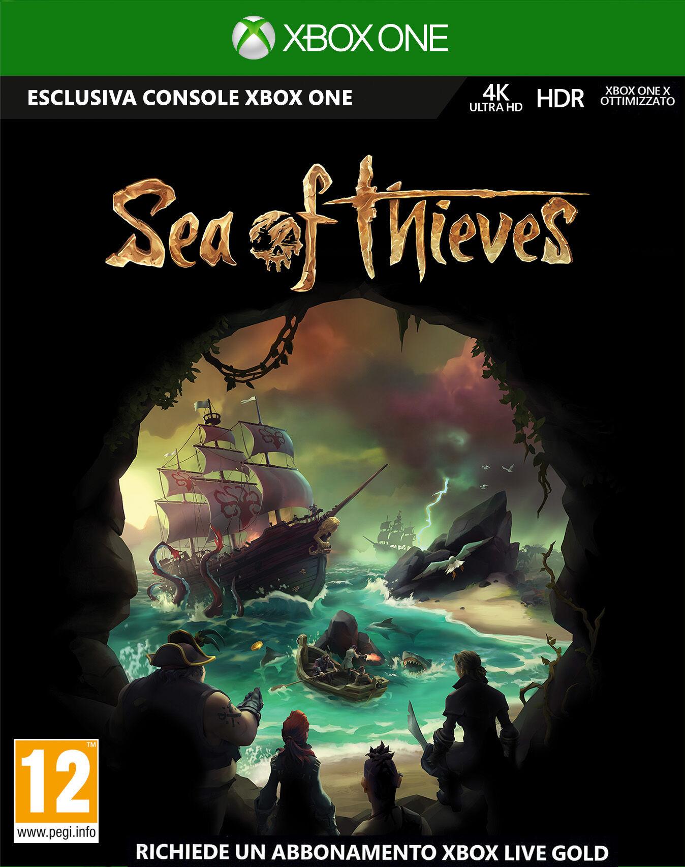 microsoft sea of thieves, xbox one videogioco basic tedesca, inglese, esp, francese, ita, portoghese, russo