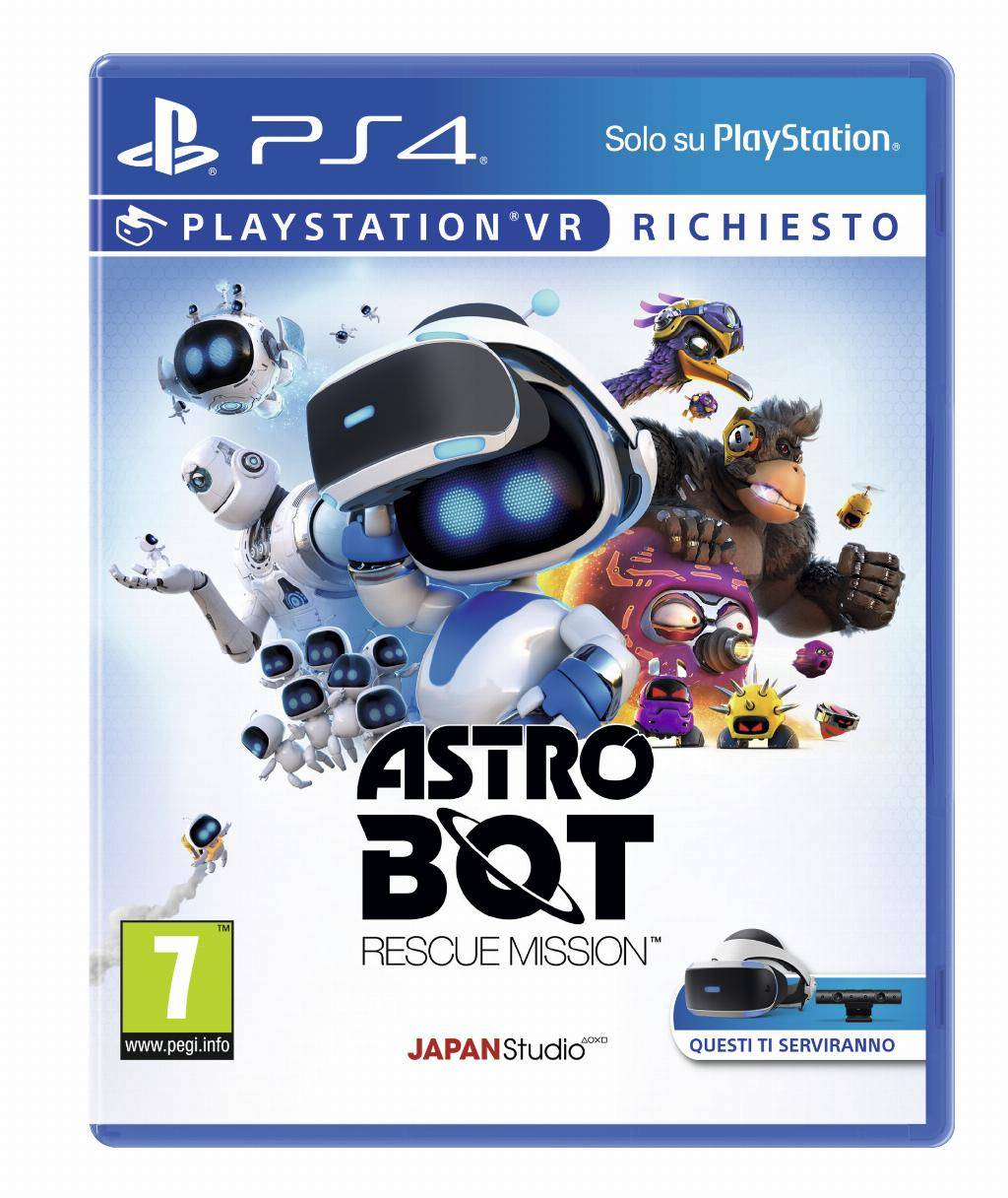 sony astro bot rescue mission, ps4 basic inglese, ita playstation 4