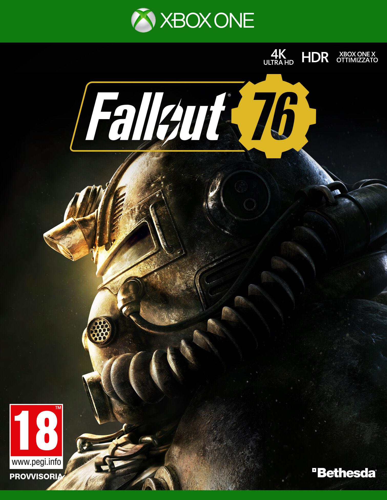 bethesda fallout 76, xbox one videogioco basic inglese, ita