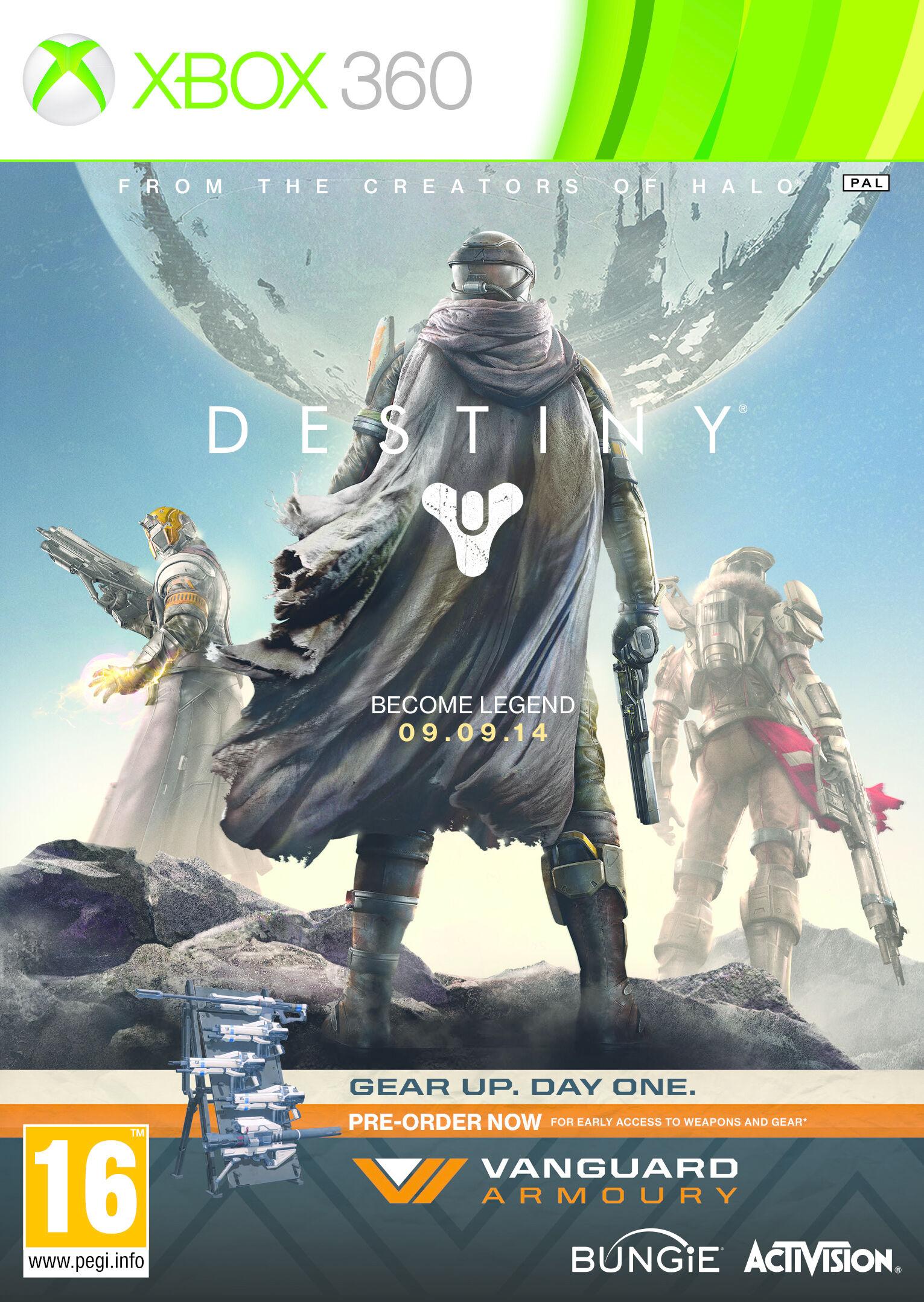 vanguard activision destiny: vanguard armory, xbox 360