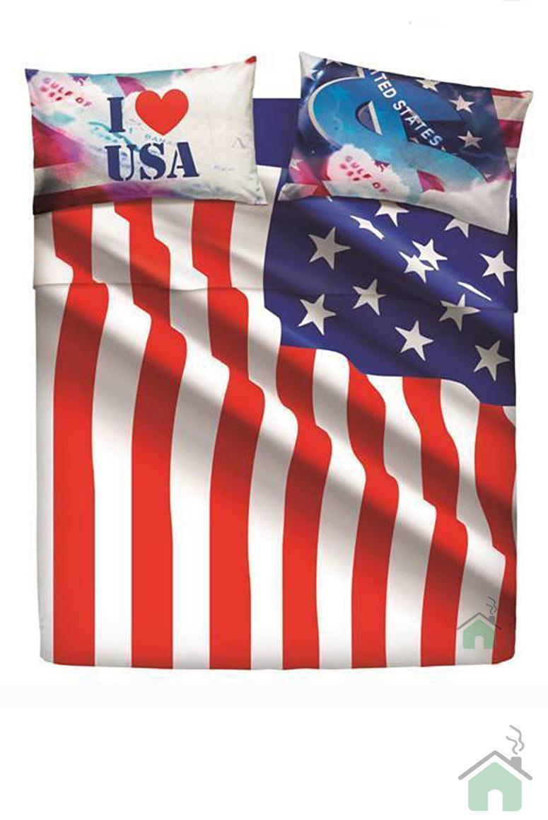 Bassetti copripiumino matrimoniale USA FLAG offerta speciale con sotto e federe