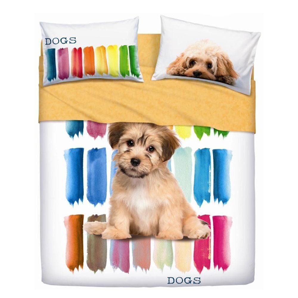 Bassetti Completo lenzuola copriletto COLOR DOGS di Bassetti Matrimoniale