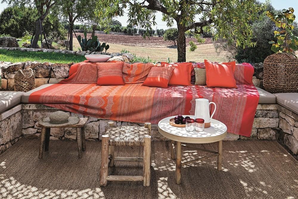 Bassetti Copridivano Telo Arredo Bassetti Granfoulard BRUNELLESCHI X1 3 taglie arancione