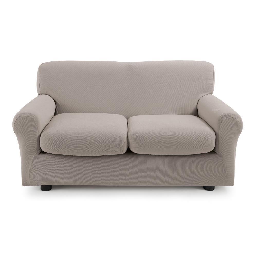 Zucchi Copridivano 2 posti con 2 cuscini Zucchi Copri divano ZAPPING tortora