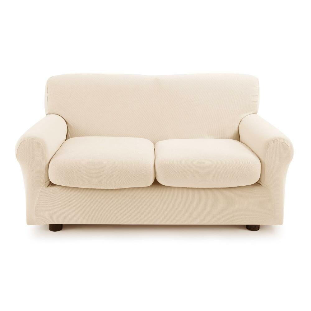 Zucchi Copridivano 2 posti con 2 cuscini Zucchi Copri divano ZAPPING beige