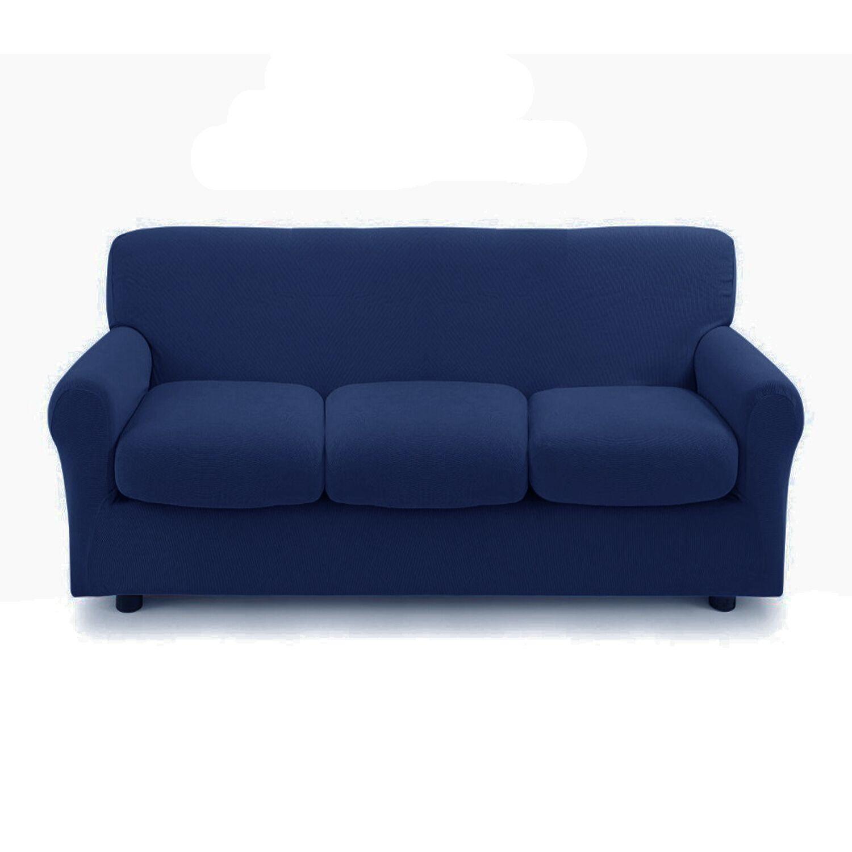 Zucchi Copridivano 3 posti con 3 cuscini Copri Divano ZAPPING Zucchi blu