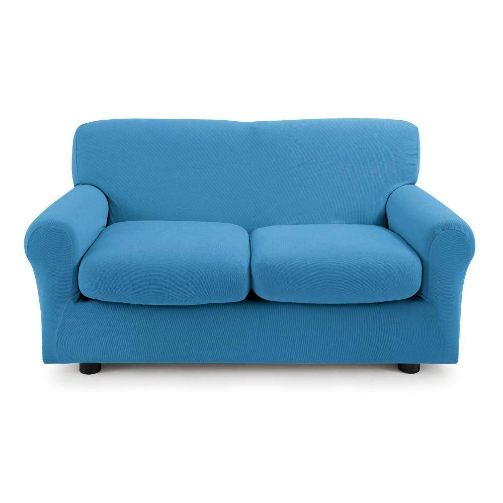 Zucchi Copridivano 2 posti con 2 cuscini Zucchi Copri divano ZAPPING bluette 3392