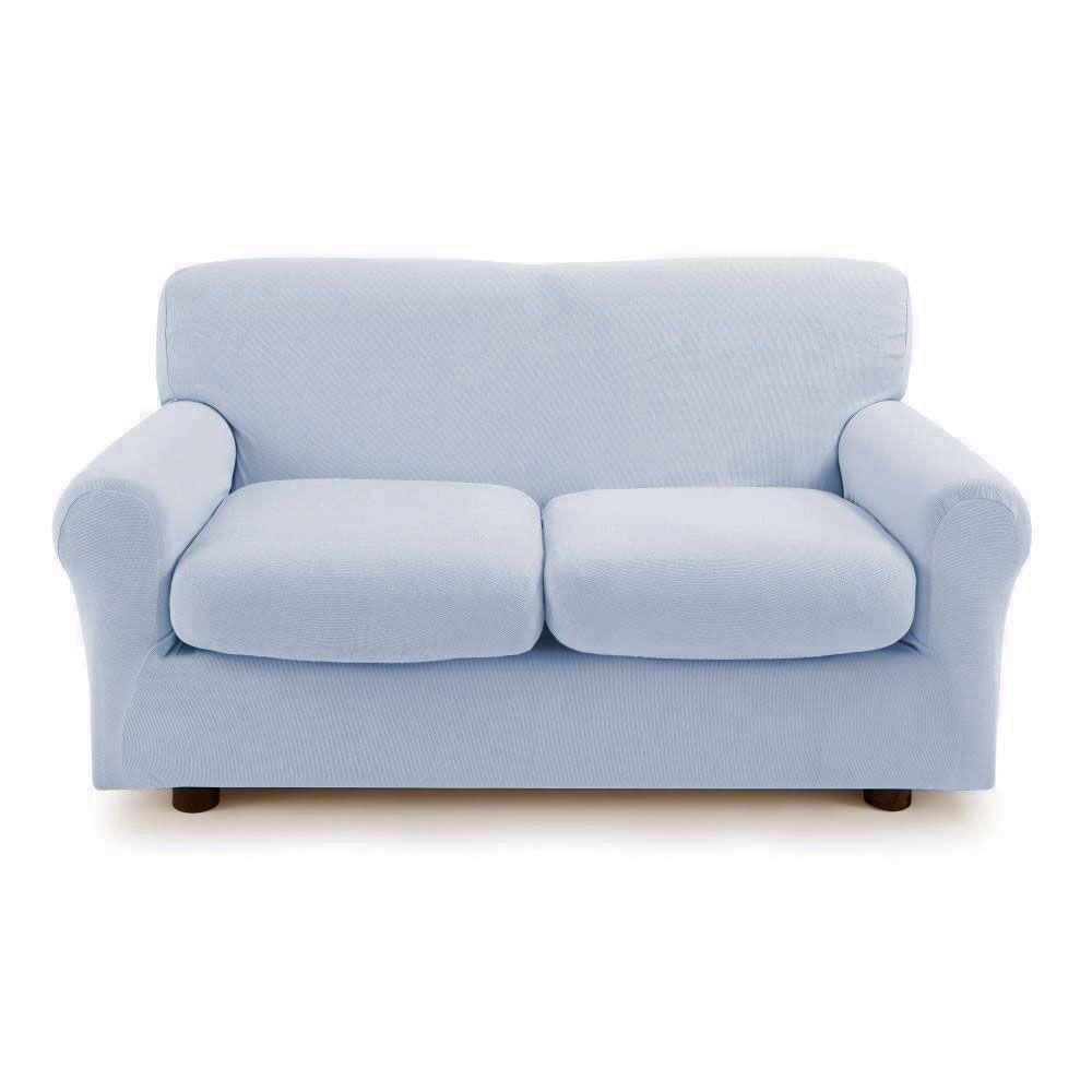 Zucchi Copridivano 2 posti con 2 cuscini Zucchi Copri divano ZAPPING grigio celestiale