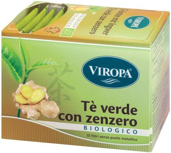 """Viropa Import Sas"" ""Viropa Te Verde&zenzero Bio 15 Bustine"""
