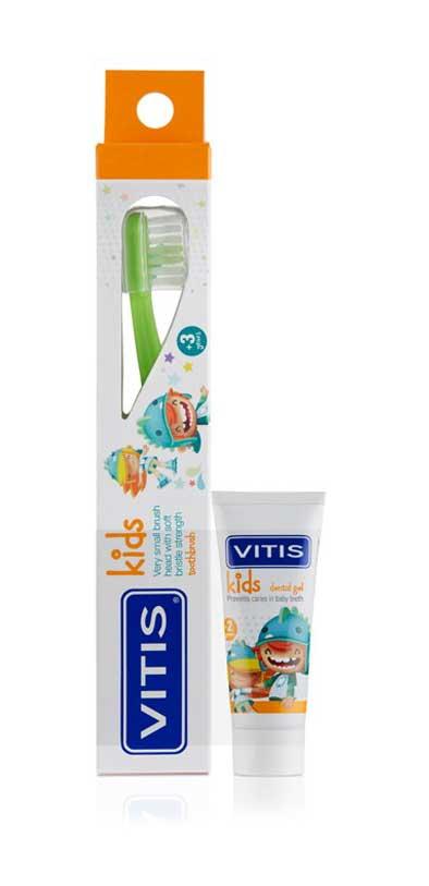 Dentaid Srl Vitis® Kids Spazzolino+Gel Dentifricio Dentaid 8ml