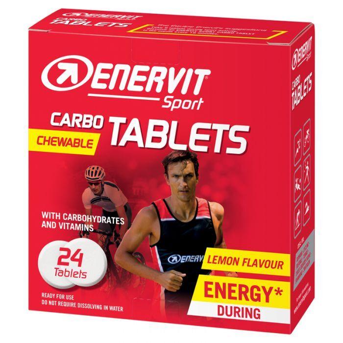 Enervit Carbo Tablets Chewable Lemon Flavour Enervit Sport 24 Tavolette Masticabili 4g