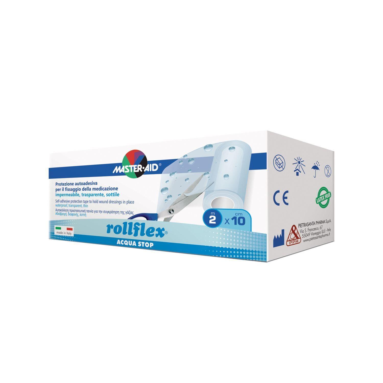 pietrasanta pharma spa master-aid® rollflex® acqua-stop protezione autoadesiva m 2 x 10 cm