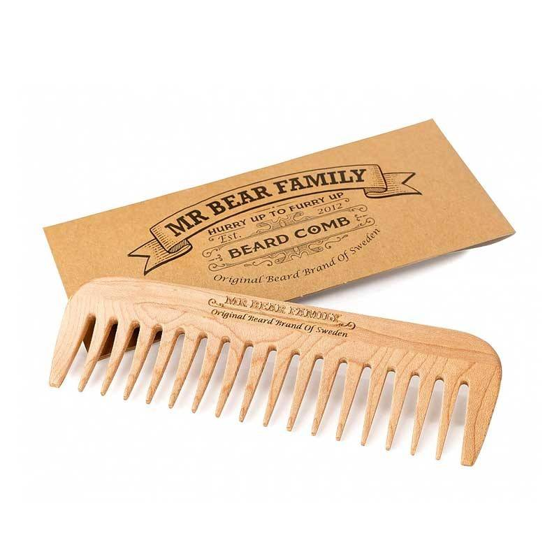 Bear Mr Bear Family Beard Comb Pettine Legno