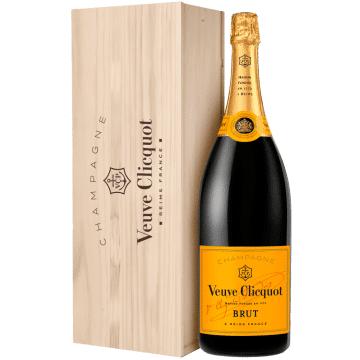 Champagne Veuve Clicquot - Brut Carte Jaune - Jeroboam En Cassa Di Legno