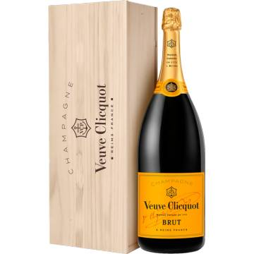 Champagne Veuve Clicquot - Brut Carte Jaune - Mathusalem En Cassa Di Legno