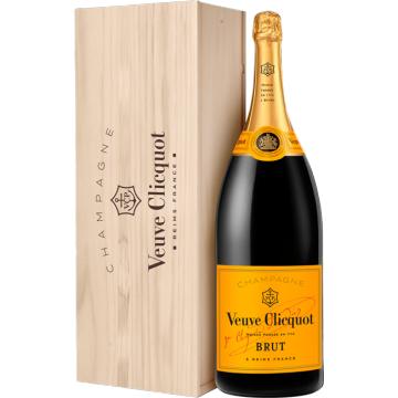Champagne Veuve Clicquot - Brut Carte Jaune - Salmanazar - In Cassa Di Legno