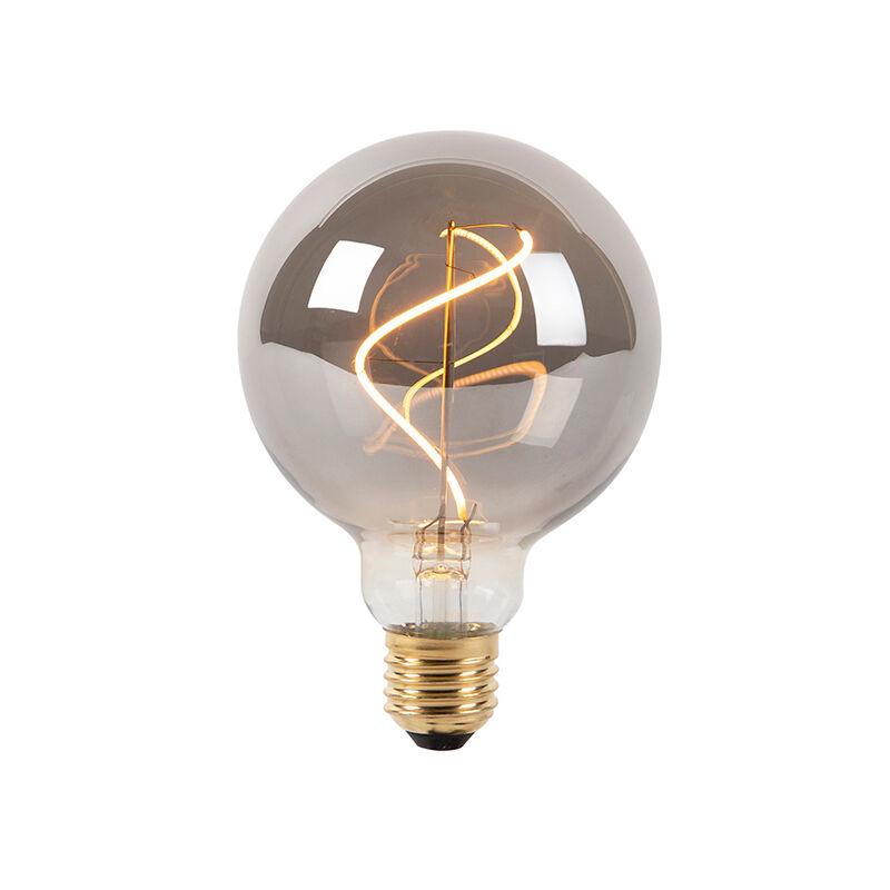 LUEDD Set 5 lampadine LED E27 G95 100lm 2100K globo fumé dimm