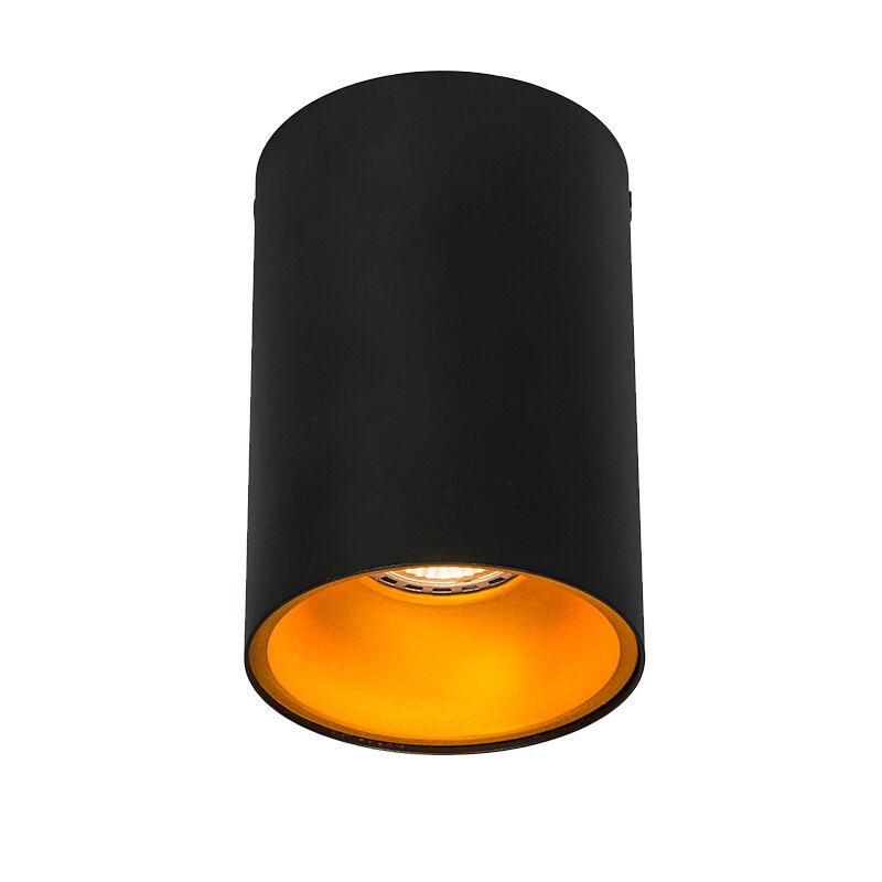 QAZQA Faretto nero oro aranciato incl lampadina smart GU10 - DEEP