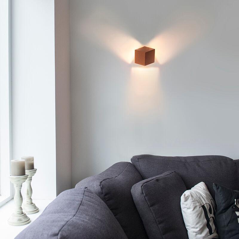 QAZQA Lampada da parete moderna in rame - Cubo