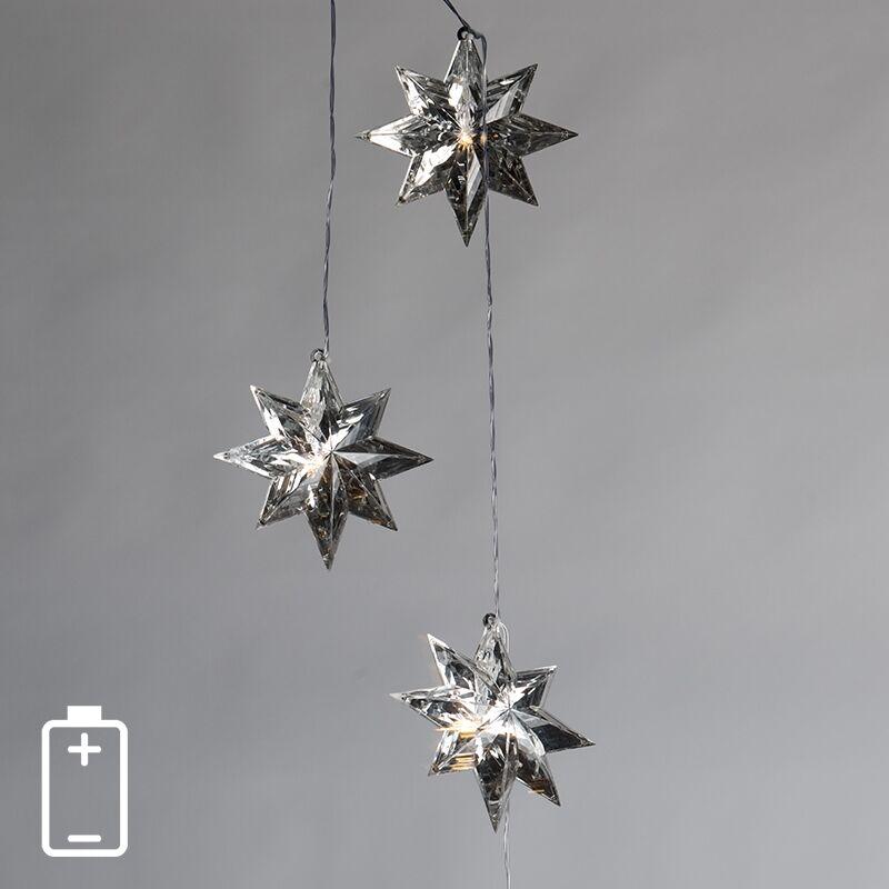 Kaemingk Luci di Natale STELLE 3 a LED bianco caldo