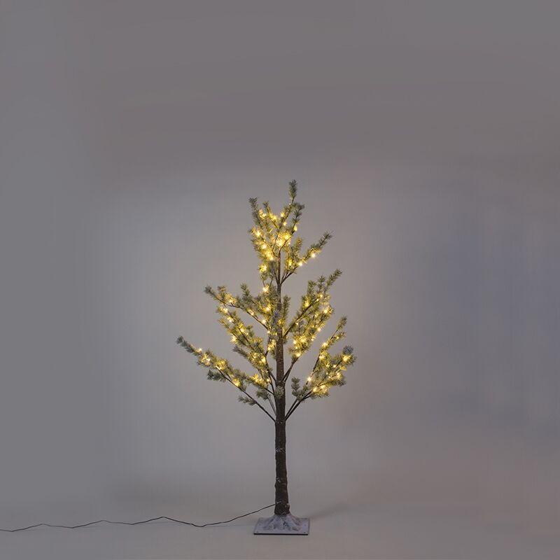 Kaemingk Albero di Natale RAMO DI PINO SNOW a LED bianco caldo 1,5m