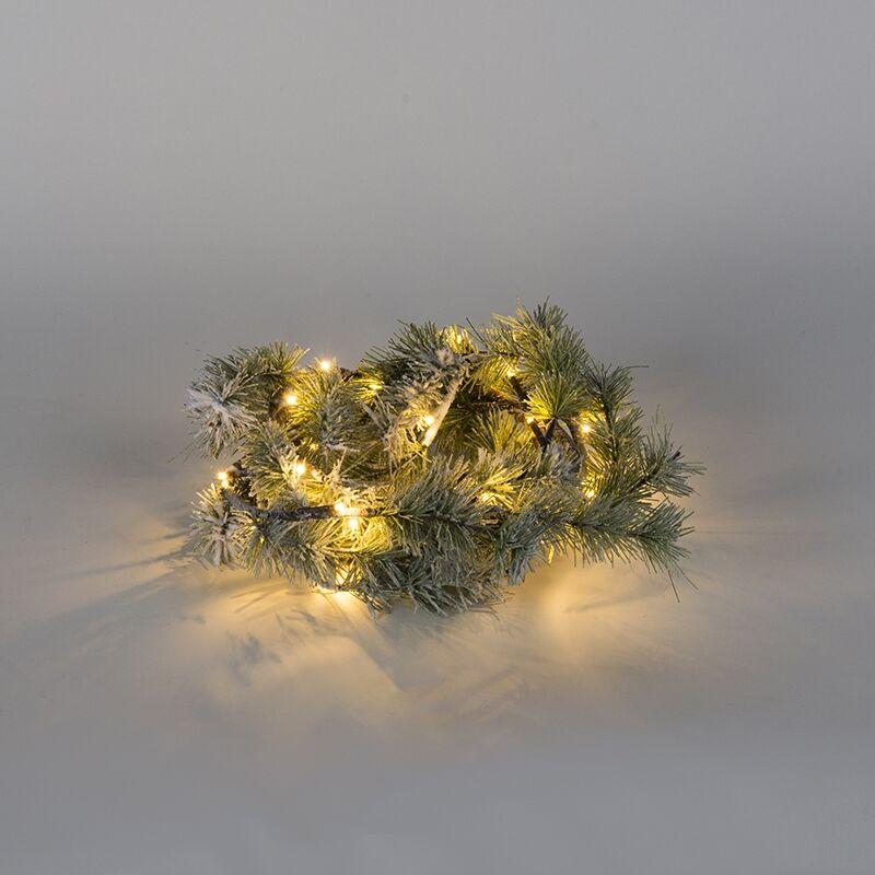 Kaemingk Luci di Natale RAMO DI PINO SNOW a LED bianco caldo 1,5m