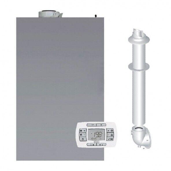 baxi caldaia a condensazione da esterno murale luna air 28 gas metano-gpl classe a a profilo xl nox 6 + scarico fumi +copertura