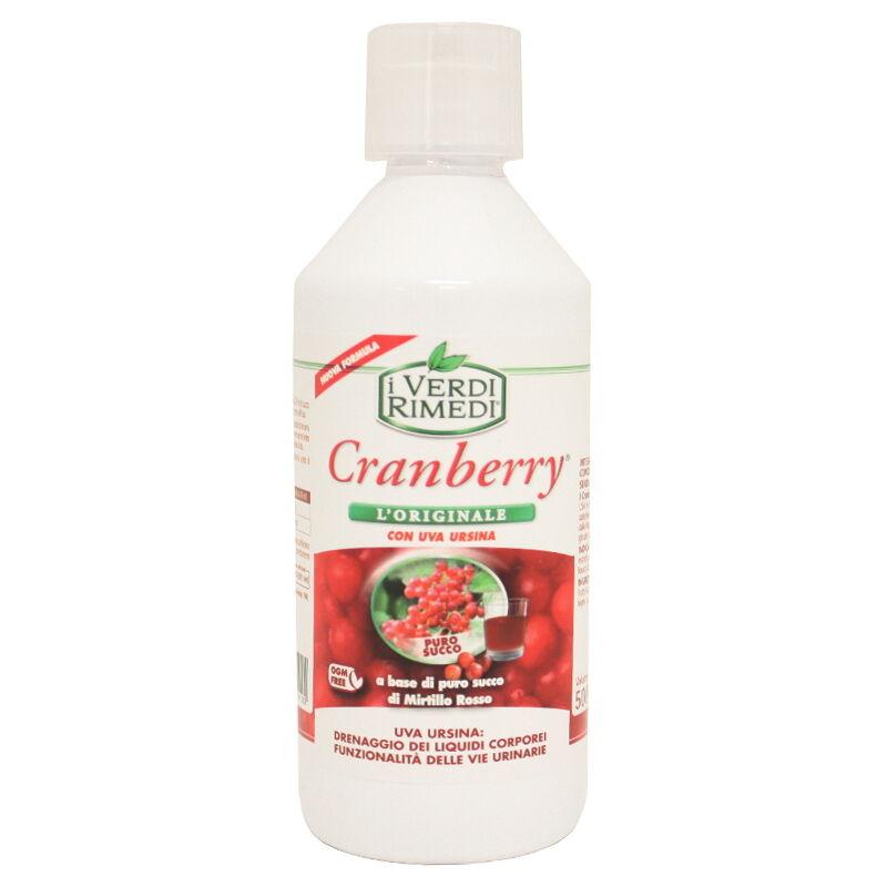 I Rimedi Verdi Cranberry Succo Con Uva Ursina 500 Ml