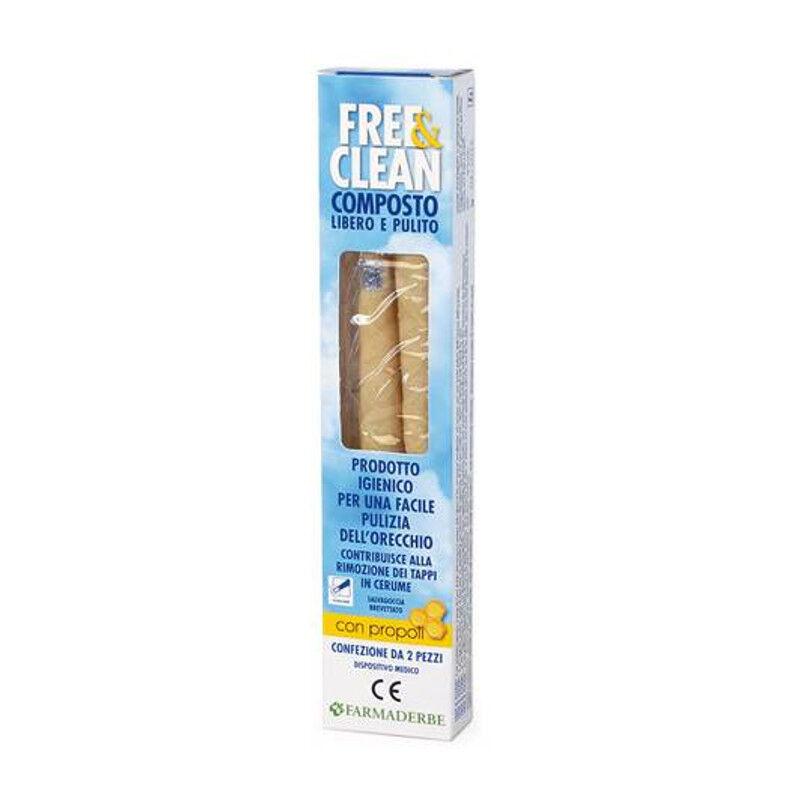 Farmaderbe Free&clean Coni Per Orecchie 2 Pz