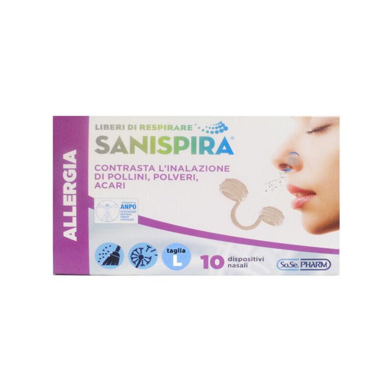 Sanispira Allergia Filtro Nasale 10 Pz Taglia L
