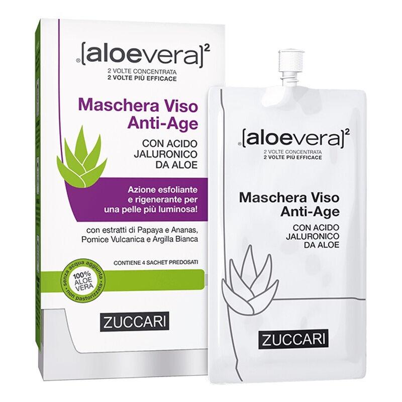 aloevera2 maschera viso anti/age 4 pz x 20 ml