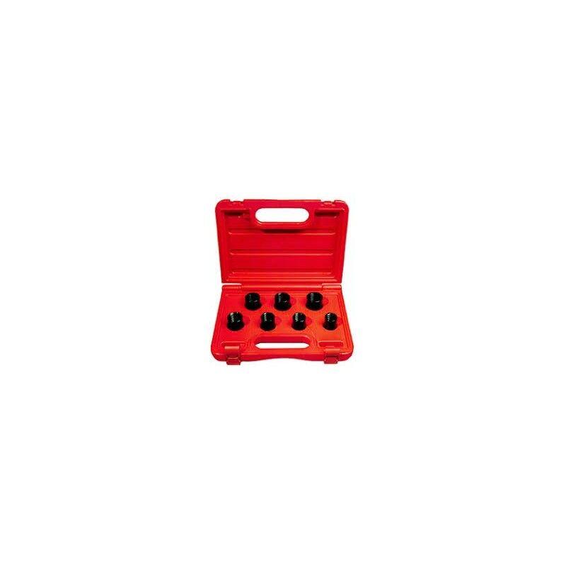 FERMEC Cassetta 7 bussole speciali per svitare bulloni di sicurezza nei cerchi in lega FERMEC523071