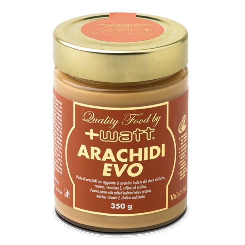 +Watt Arachidi Evo Burro d'arachidi con Taurina e proteine del Siero del Latte Vit E 350 gr