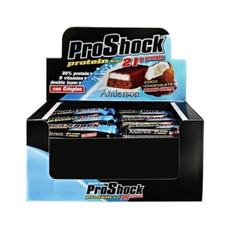 anderson proshock barretta proteica 21 gr di proteine 24 x 60 gr gusto cocco