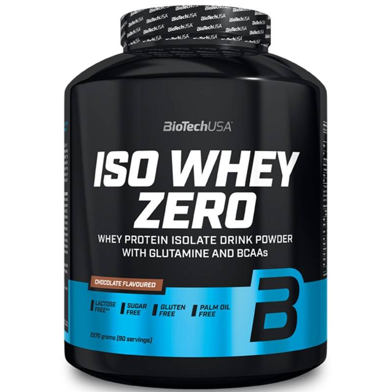 Biotech Usa Iso Whey Zero 2270 gr Proteine Siero Latte Isolate Gluten Free senza Lattosio Vari Gusti