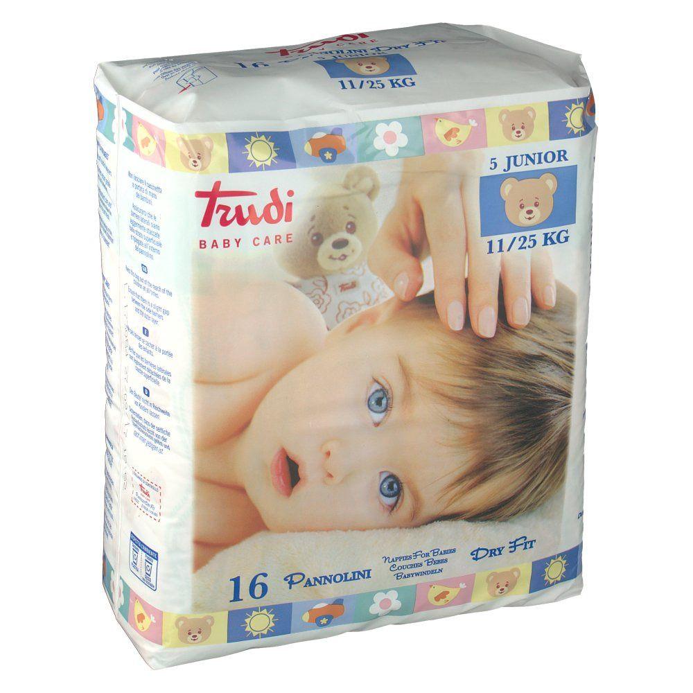 Trudi Baby Care Dry Fit 5 Junior 11 - 25 kg 16 pz Pannolini