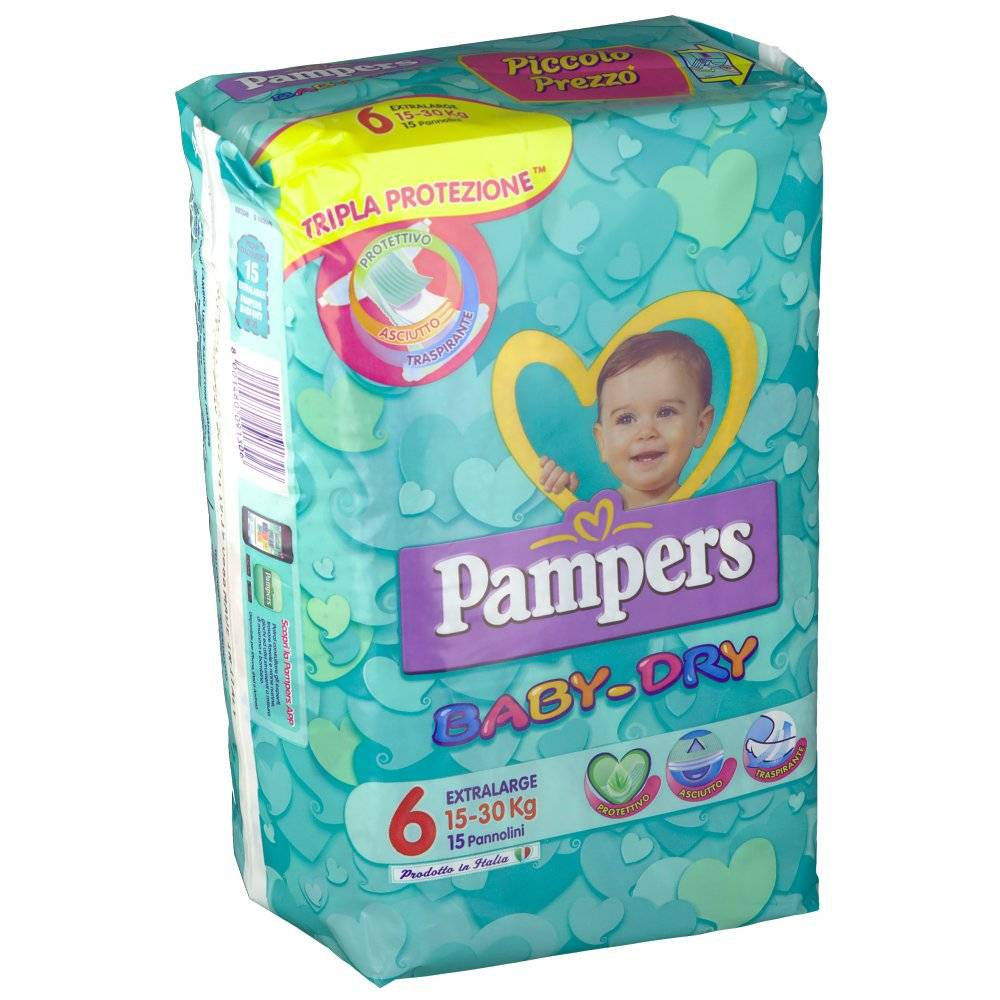 Fater SpA Pampers Baby-Dry Maxi 15-30 kg 15 8001480091306