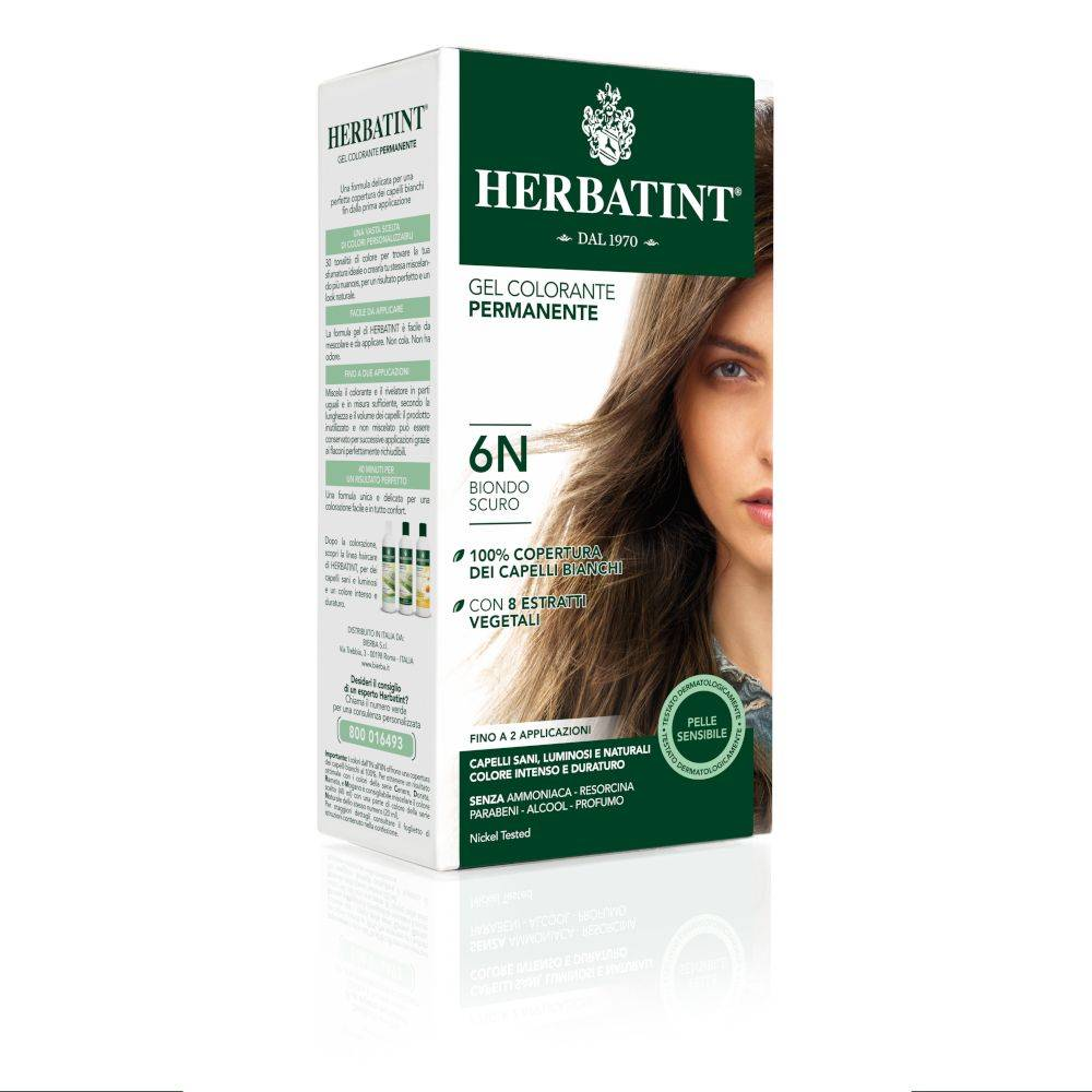 Herbatint ® Gel Colorante Permanente 6N Biondo Scuro 150 ml Lozione