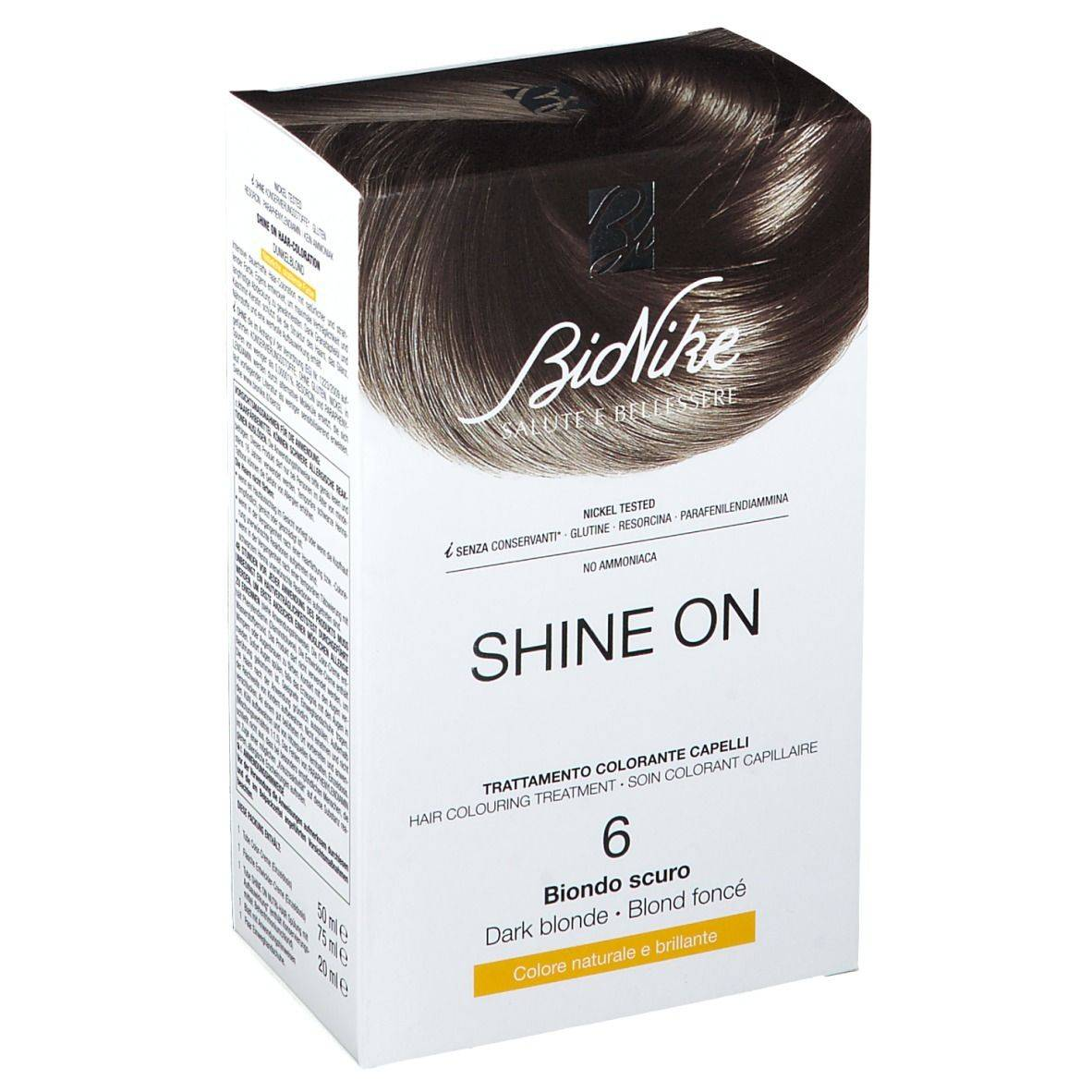 Bionike SHINE ON Biondo Scuro 6 1 pz Lozione