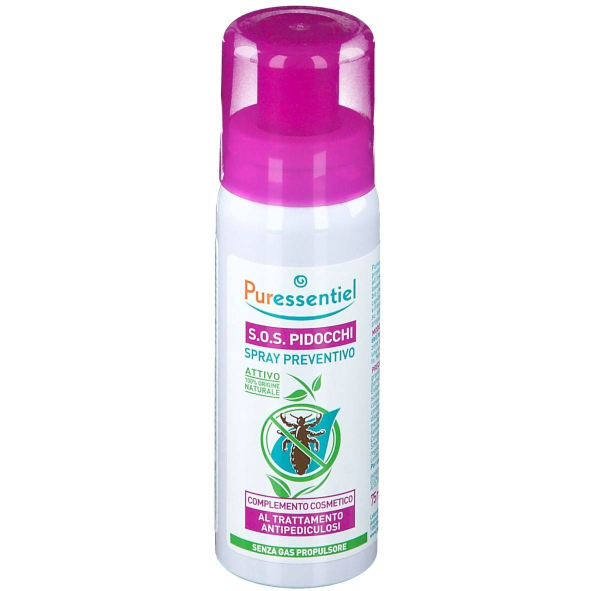 Puressentiel Puressential S.O.S. Pidocchi Spray Preventivo 75 ml Spray