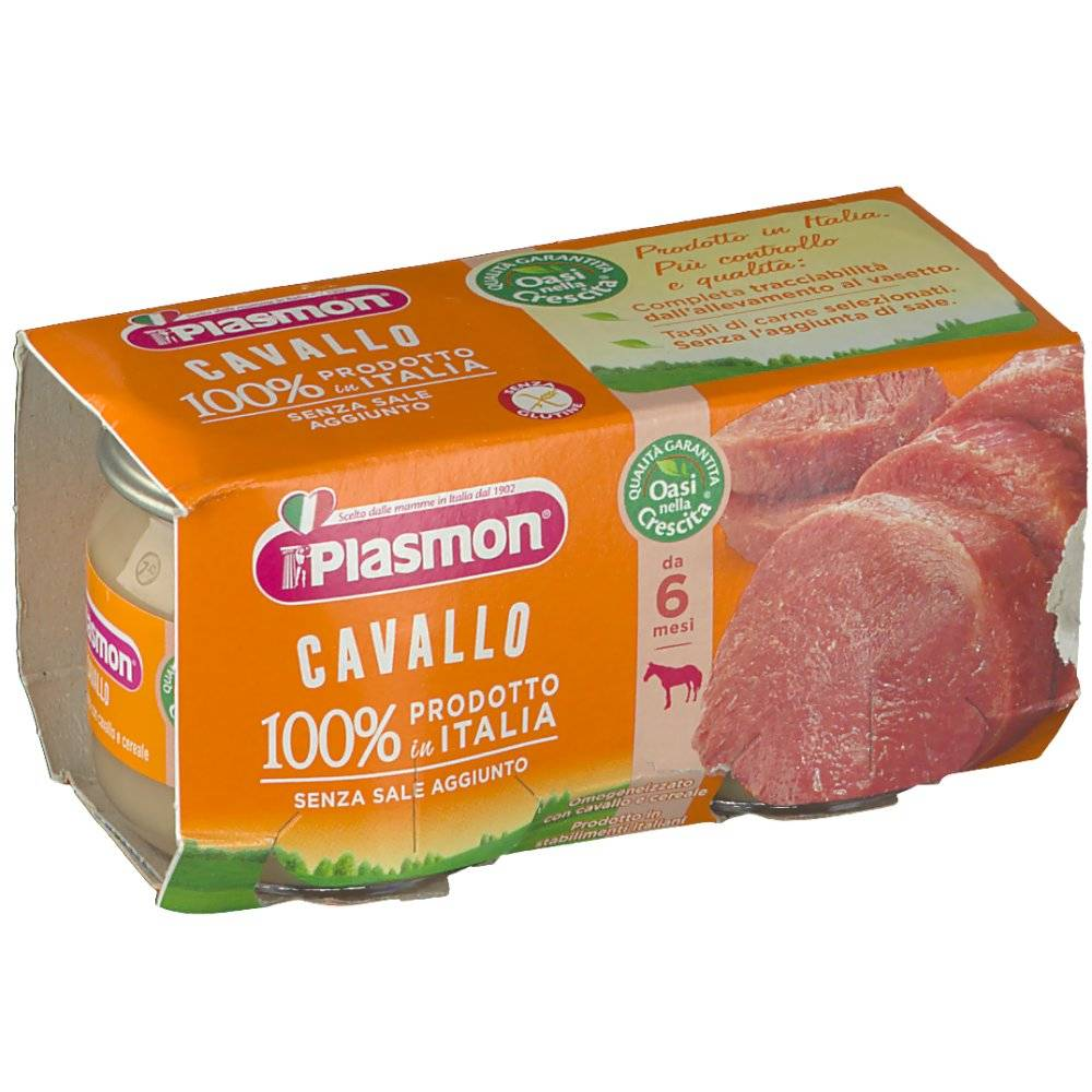 Plasmon (Heinz Italia SpA) Plasmon® Omogeneizzato Cavallo 2X80 8001040089347