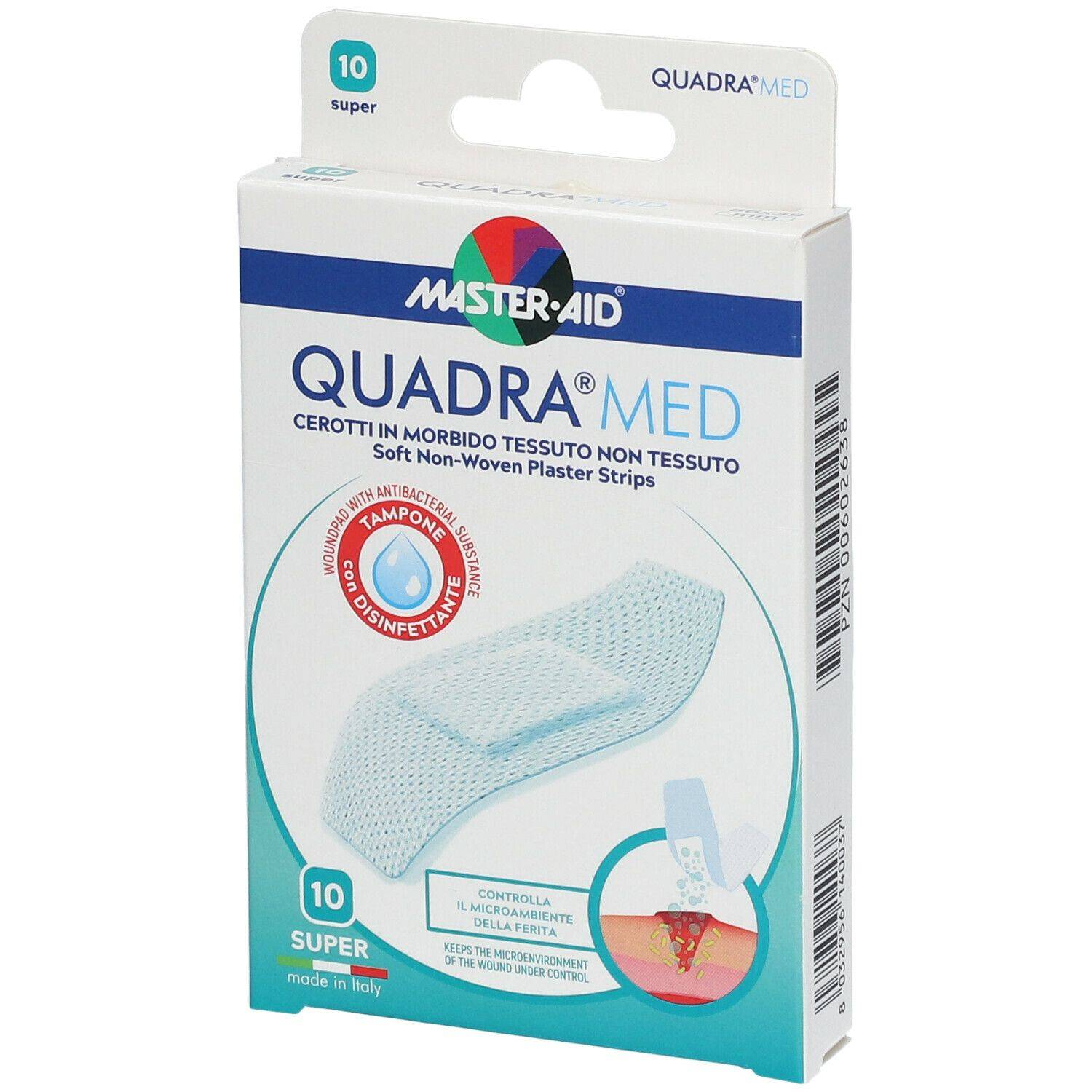 Pietrasanta Pharma SpA Master-Aid® Quadra Med® 86 x 39 mm Super 10 pz cerotto